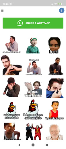 Nuevo stickers con frases de memes en español