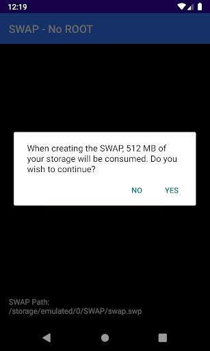SWAP - No ROOT