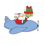 icon Santa Plane Lite