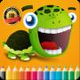 icon Turtle Cartoon Coloring Book