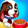icon Cute Puppy Pet Care & Dress Up Game