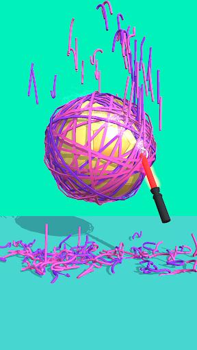RubberBand Cutting - ASMR