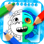 icon Luca and Alberto coloring cartoon game