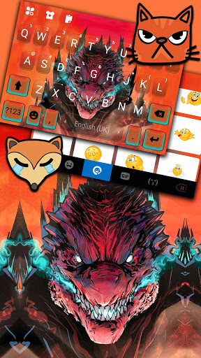 Angry Monster Keyboard Background