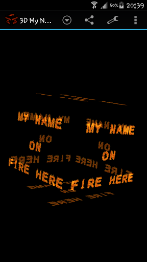 3D My Name On Fire Wallpaper
