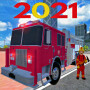 icon 911 Fire Truck Car Game: Fire Truck Games 2021