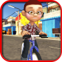 icon Kids Bicycle Rider:School Time