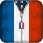 icon France Flag Zipper Lock Screen