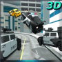 icon Futuristic Police Flying Car