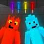 icon Fire and Water Playground: Red and Blue Ragdoll