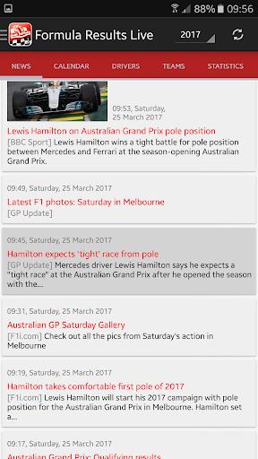 Formula Results Live
