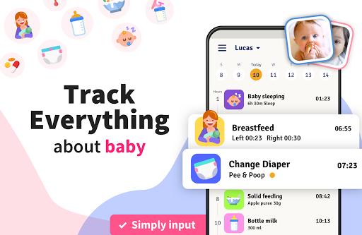 Newborn Baby Tracker - Feeding, Diaper Changing