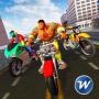 icon Superhero Bike Rider Parking Adventure