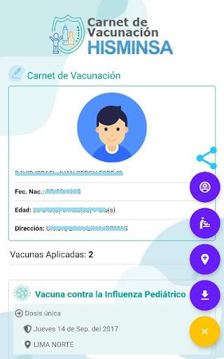 carnet certificado vacunación peru
