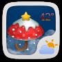 icon Christmas Theme GOWeatherEX