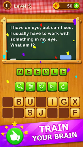 Word Riddles - Free Offline Word Games Brain Test