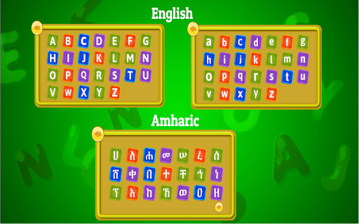 Lijoch Tracing - Learn Amharic & English Alphabet
