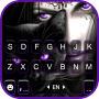 icon Purple Cat Witch Keyboard Background