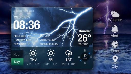 Desktop Weather Clock Widget