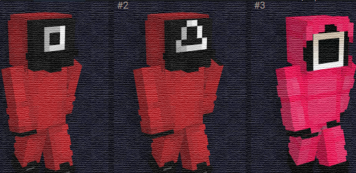 unofficial squid game skins for mcpe