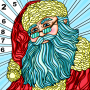 icon Coloring Book Christmas Color By Number Paint Game