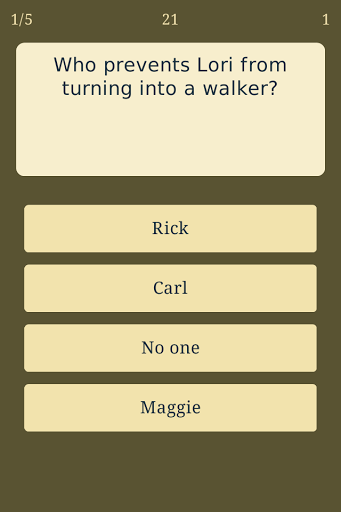 Trivia for The Walking Dead