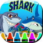 icon Coloring Book Sharks