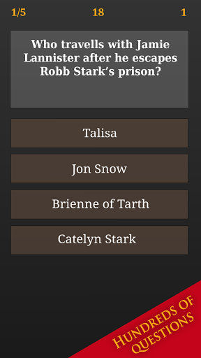 Trivia for Game of Thrones
