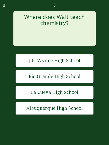 Trivia for Breaking Bad