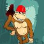 icon Happy Crazy Monkey