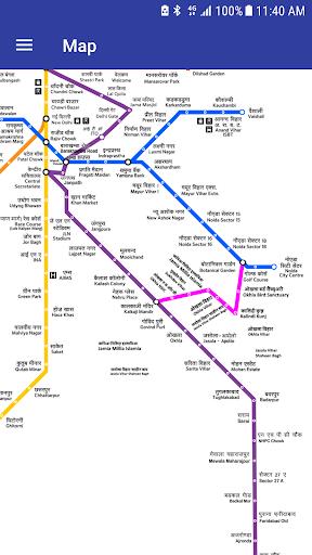 Delhi Metro Navigator -New Fare,Route,Map Jun'2017