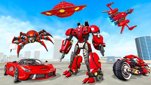 Spider Robot Game: Space Robot Transform Wars