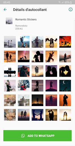Romantic Stickers - WAStickerApps