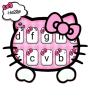 icon Girly Pink Kitty Keyboard Theme