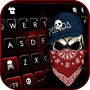 icon Cool Gangster Skull Keyboard Background