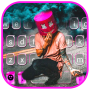 icon Smokey Music DJ Keyboard Background