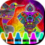 icon Mandalas of Animals for Coloring