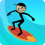icon Stickman Surfer