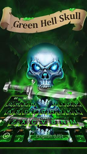 Green Hell Skull Devil Knife Keyboard Theme