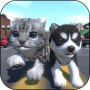 icon Cute Pocket Cat And Puppy 3D