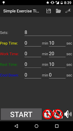 Simple Exercise Timer