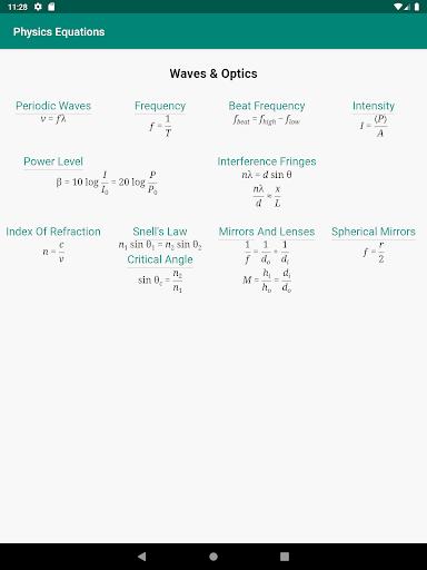 Physics Equations