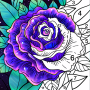 icon Coloring Book - Color by Number & Paint by Number
