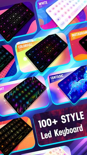 Neon LED Keyboard - RGB Lighting Colors