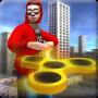 icon Fidget Spinner Frisbee Hero vs Crime City Gangster