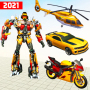 icon Flying Helicopter Robot Car Transform Shooting War