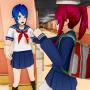 icon Anime Bad Girl High School Life: Girl Games 2021