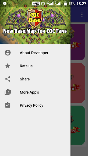 Free download New CoC Base Maps for Layout 2018 APK for Android