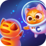 icon Space Cat Evolution: Kitty collecting in galaxy