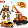 icon Grand Excavator Robot Car Transform Game 2021